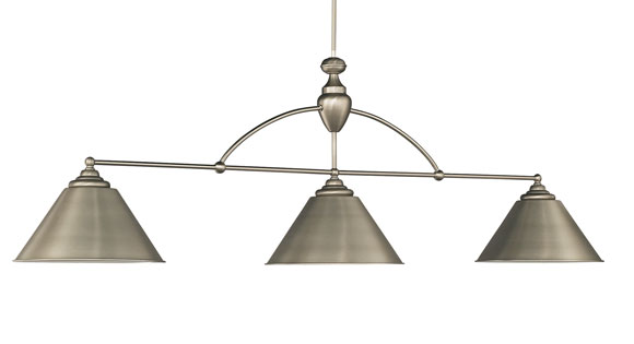 Brunswick Centennial - Brushed Nickel with Brushed Nickel Shades