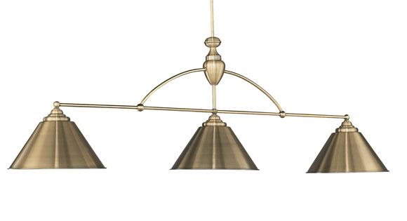 Brunswick Centennial lamp - Antique Brass qith Antique Brass Shades